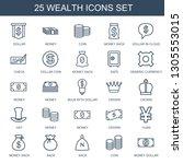 25 wealth icons. trendy wealth... | Shutterstock .eps vector #1305553015