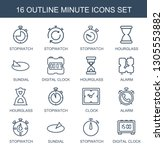 16 minute icons. trendy minute... | Shutterstock .eps vector #1305553882