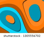 colorful carving art.paper cut... | Shutterstock . vector #1305556702