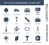hardware icons. trendy 16... | Shutterstock .eps vector #1305557338