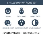 emotion icons. trendy 6 emotion ... | Shutterstock .eps vector #1305560212