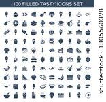 tasty icons. trendy 100 tasty... | Shutterstock .eps vector #1305560398