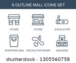 mall icons. trendy 6 mall icons.... | Shutterstock .eps vector #1305560758