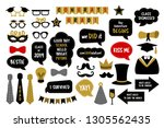 photo booth props for... | Shutterstock .eps vector #1305562435