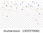 colorful confetti star on... | Shutterstock .eps vector #1305570082