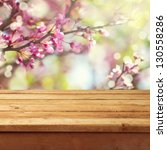 spring blossom background with... | Shutterstock . vector #130558286