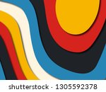 colorful carving art.paper cut... | Shutterstock . vector #1305592378
