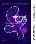 dance flyer. dynamic gradient... | Shutterstock .eps vector #1305603418