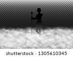 fog machine effect vector...   Shutterstock .eps vector #1305610345