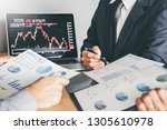 business team investment... | Shutterstock . vector #1305610978
