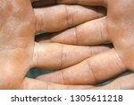men's caucasian hairy arms...   Shutterstock . vector #1305611218