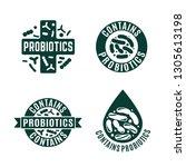 probiotic icons  vector design. ...   Shutterstock .eps vector #1305613198