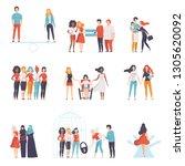 gender equality in society set  ... | Shutterstock .eps vector #1305620092