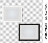picture frame set isolated... | Shutterstock . vector #1305624028