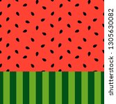 watermelon background vector... | Shutterstock .eps vector #1305630082