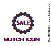 sale badge or sticker icon flat.... | Shutterstock .eps vector #1305631102