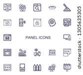 editable 22 panel icons for web ...