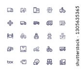 editable 25 deliver icons for... | Shutterstock .eps vector #1305635365