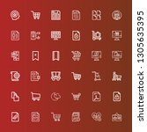 editable 36 add icons for web... | Shutterstock .eps vector #1305635395