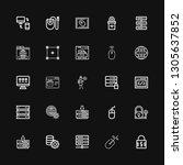 editable 25 www icons for web...   Shutterstock .eps vector #1305637852