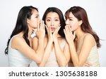 three asian women telling... | Shutterstock . vector #1305638188