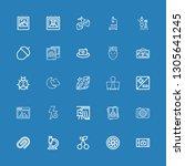editable 25 macro icons for web ... | Shutterstock .eps vector #1305641245