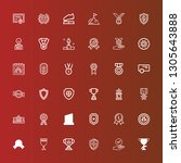 editable 36 honor icons for web ... | Shutterstock .eps vector #1305643888