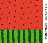 watermelon background vector... | Shutterstock .eps vector #1305645172