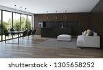 modern house interior. interior ... | Shutterstock . vector #1305658252