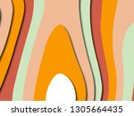 colorful carving art.paper cut... | Shutterstock . vector #1305664435
