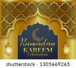 ramadan kareem or eid mubarak... | Shutterstock .eps vector #1305669265