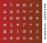 editable 36 antenna icons for... | Shutterstock .eps vector #1305671548