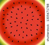 watermelon background vector... | Shutterstock .eps vector #1305671788
