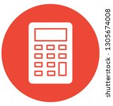 accounting isolated vector... | Shutterstock .eps vector #1305674008