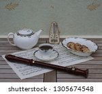 english teacup with saucer ... | Shutterstock . vector #1305674548
