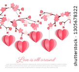 happy  valentines day or... | Shutterstock .eps vector #1305678322