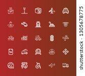 editable 25 transport icons for ... | Shutterstock .eps vector #1305678775