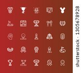 editable 25 trophy icons for... | Shutterstock .eps vector #1305678928
