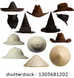 a small set of different hats... | Shutterstock . vector #1305681202
