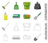 vector design of cleaning and... | Shutterstock .eps vector #1305683455