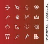 editable 16 broken icons for... | Shutterstock .eps vector #1305686152