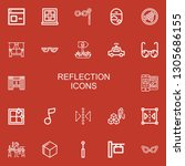 editable 22 reflection icons... | Shutterstock .eps vector #1305686155