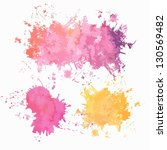 colored paint splashes. vector... | Shutterstock .eps vector #130569482