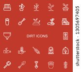 editable 22 dirt icons for web... | Shutterstock .eps vector #1305697405