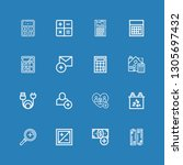 editable 16 plus icons for web... | Shutterstock .eps vector #1305697432