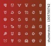 editable 36 mammal icons for...   Shutterstock .eps vector #1305700762