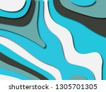 colorful carving art.paper cut... | Shutterstock . vector #1305701305