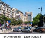 bucharest  romania   june 05 ... | Shutterstock . vector #1305708385