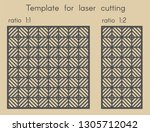 template for laser cutting....   Shutterstock .eps vector #1305712042