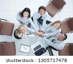top view.professional business... | Shutterstock . vector #1305717478